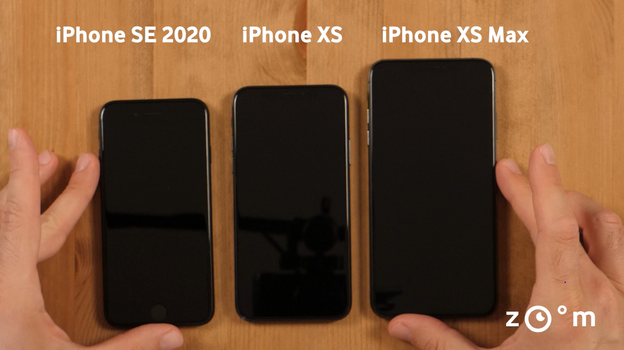 iphone se versus iphone xs versus xs max