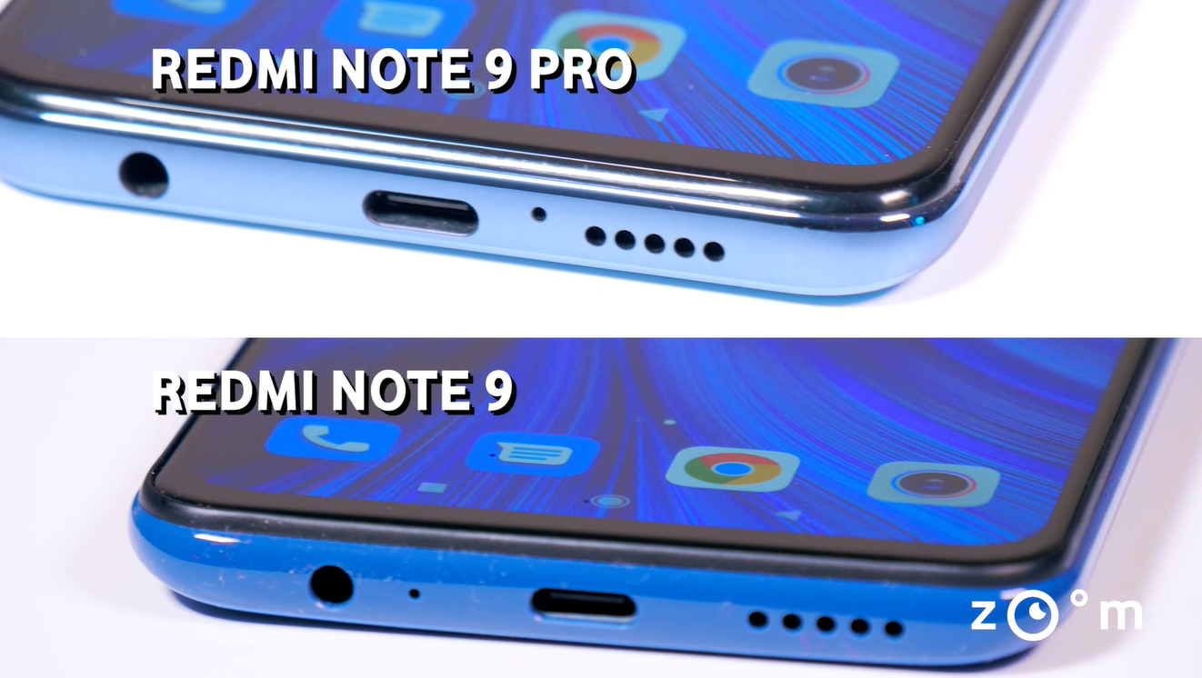 Xiaomi Redmi Note 9 vs Note 9 Pro - Comparatie design