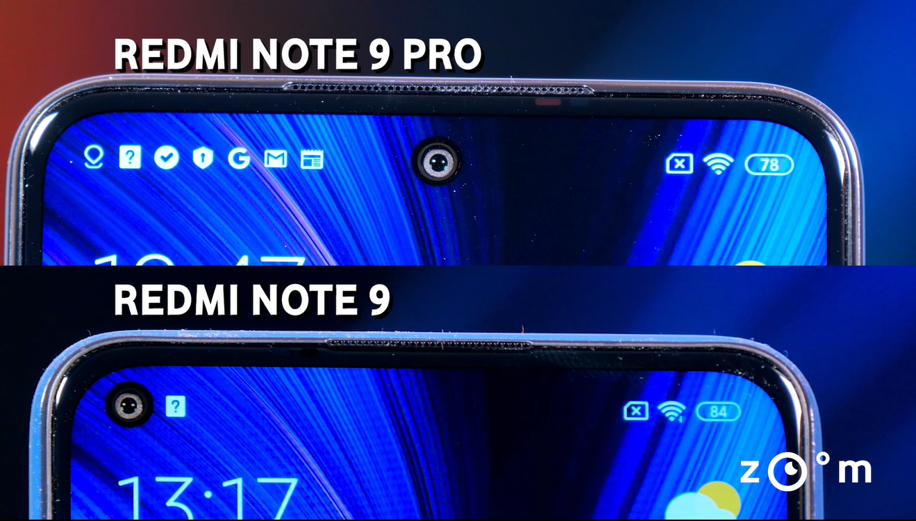 Xiaomi Redmi Note 9 vs Note 9 Pro - Comparatie design 2