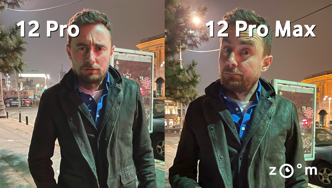 comparatie portrait mode iPhone 12 Pro si Pro Max